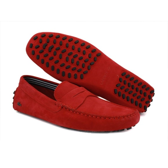 34322d5c7 RED LACOSTE LOAFERS